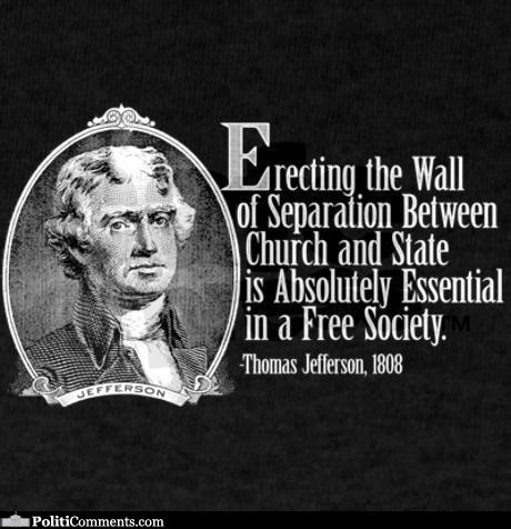 wall of separation between church and state essay Free sample essay on separation of church and state: in 1789, the first amendment established that congress shall make no law respecting an establishment of.